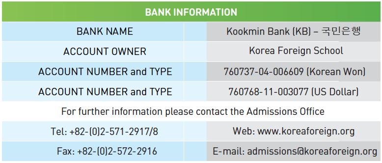 Apply Now   IB World School   Korea Foreign School